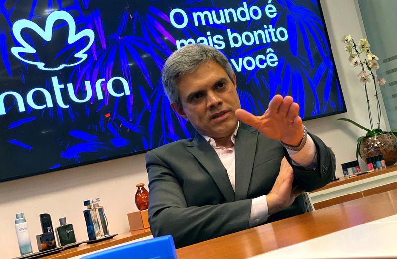 © Reuters. Presidente da Natura, João Paulo Ferreira, durante entrevista à Reuters em São Paulo