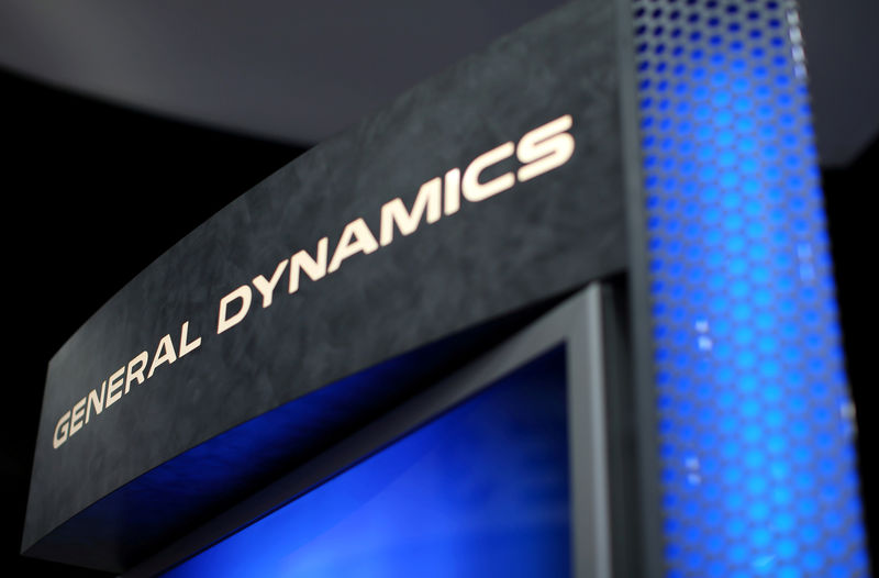 � Reuters. FILE PHOTO:  A General Dynamics sign is shown at the International Association of Chiefs of Police conference in San Diego, California