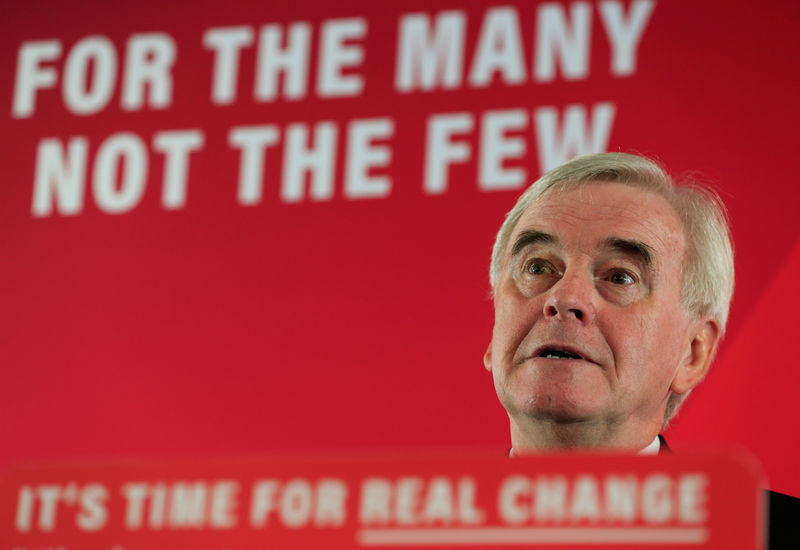 Labour's McDonnell promises nationalisation under a minority governmen