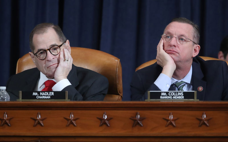 © Reuters. House Judiciary Committee holds evidenciary hearing on Trump impeachment inquiry on Capitol Hill in Washington