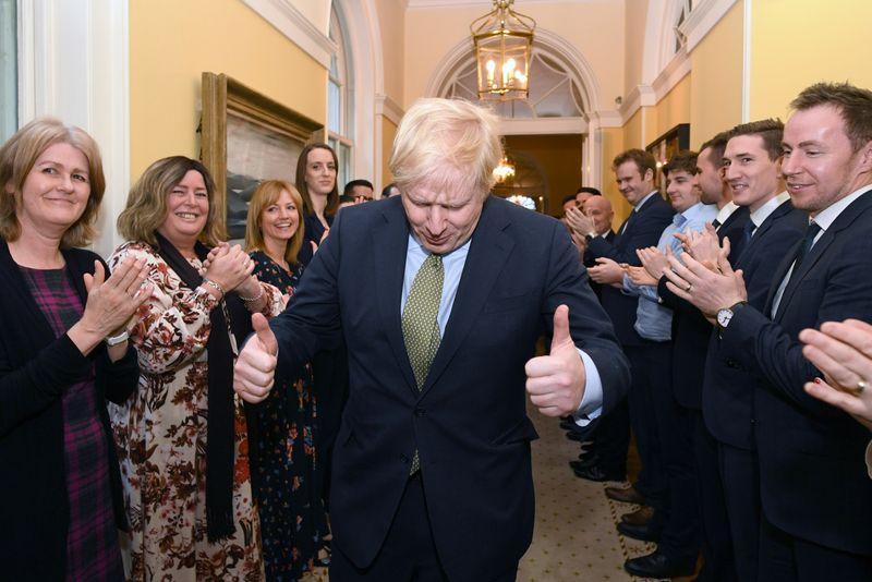 © Reuters. Britain's Prime Minister Boris Johnson returns to Downing Street, London