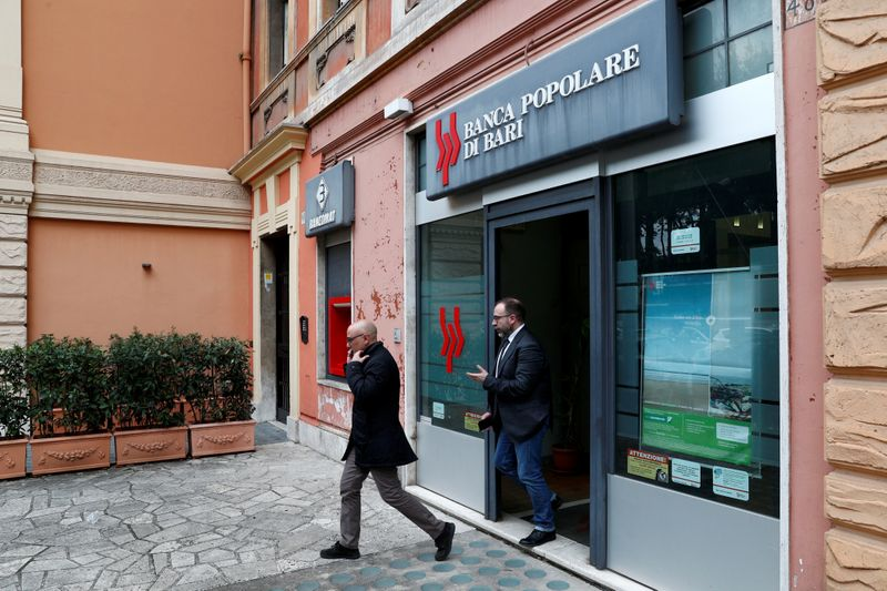 Italy says rescue of Popolare di Bari complies with EU state aid rules