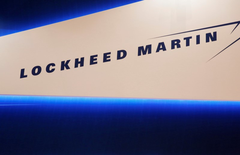 © Reuters. Lockheed Martin's logo is seen during Japan Aerospace 2016 air show in Tokyo