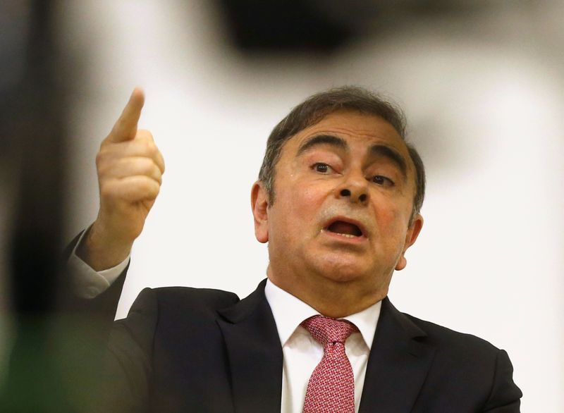 © Reuters. Former Nissan chairman Carlos Ghosn's news conference in Beirut