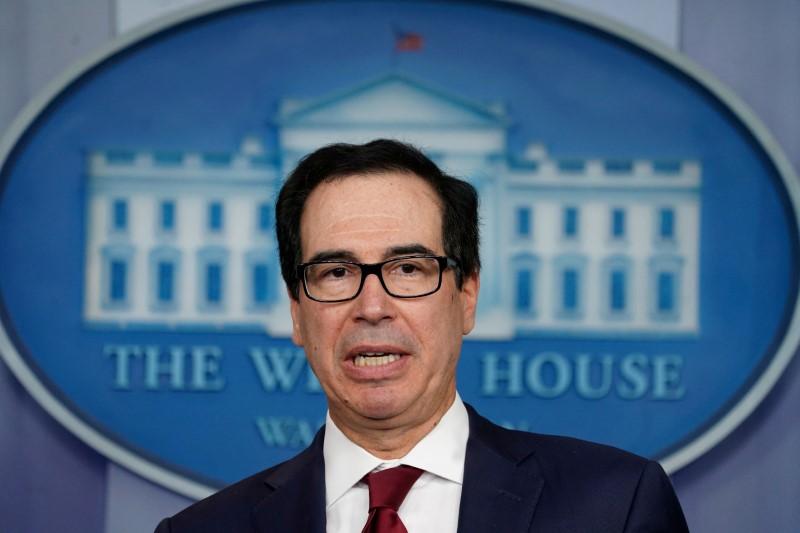 """США сохранят пошлины на китайские товары до """"второй фазы"""" торговой сделки -- Мнучин"""
