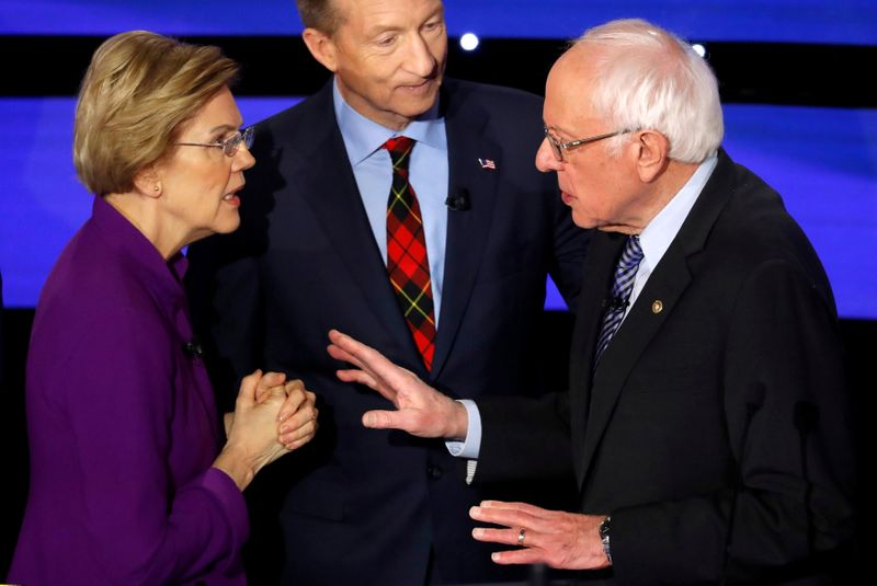 Flap with Warren knocks Sanders' strategy off course By Reuters