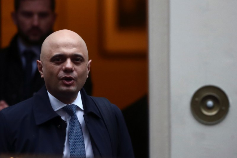 Javid aims to double UK growth after Brexit: FT By Reuters