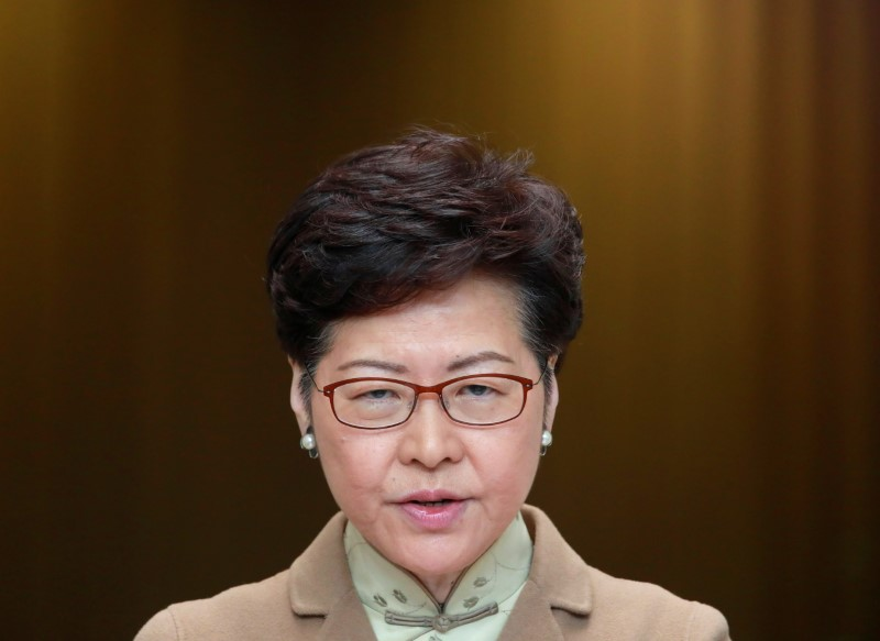 Hong Kong leader in Davos charm offensive as protests persist By Reute