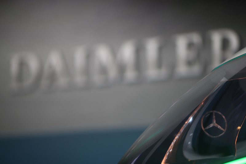 © Reuters. Daimler AG's annual news conference in Stuttgart