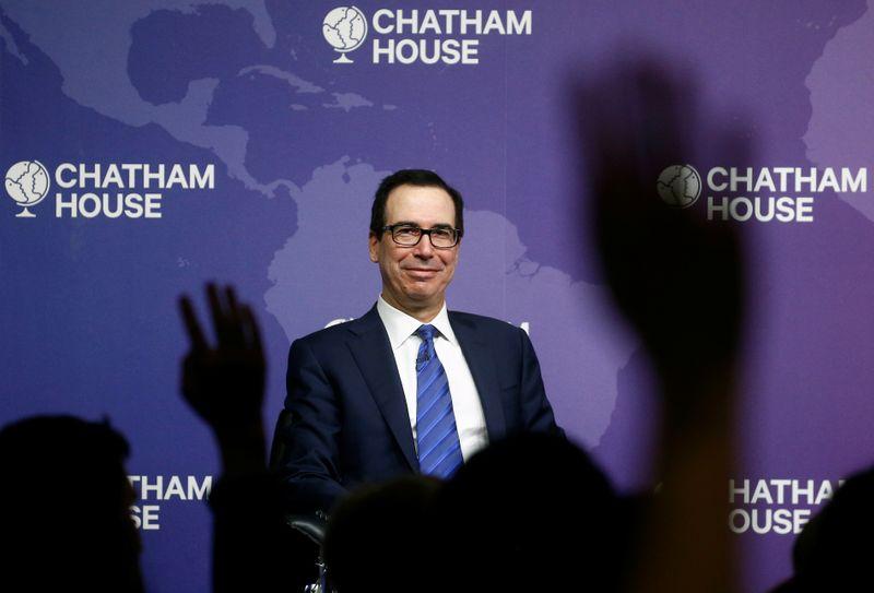 U.S. Treasury chief Mnuchin says optimistic about U.S.-UK trade deal B