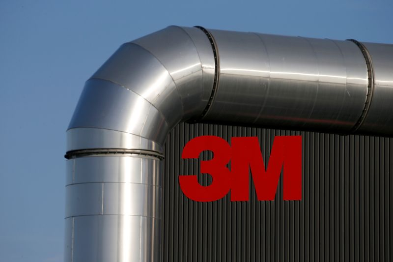 © Reuters. The logo of 3M is seen at the 3M Tilloy plant in Tilloy-Lez-Cambrai
