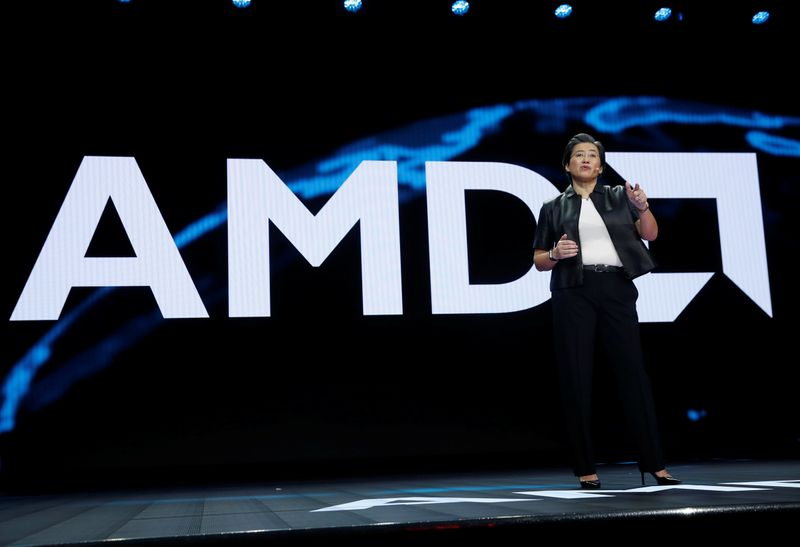 © Reuters. Lisa Su, president and CEO of AMD, gives a keynote address during the 2019 CES in Las Vegas