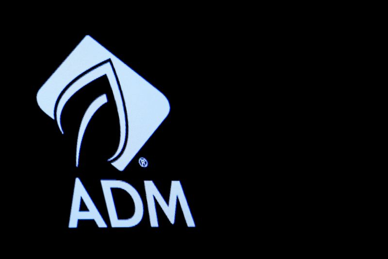 © Reuters. The Archer Daniels Midland Co. (ADM) logo is displayed on a screen on the floor of the NYSE in New York