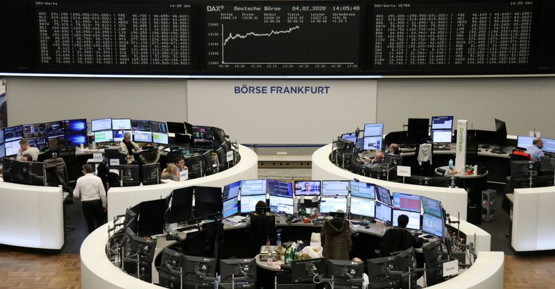 European shares inch lower; services PMI awaited