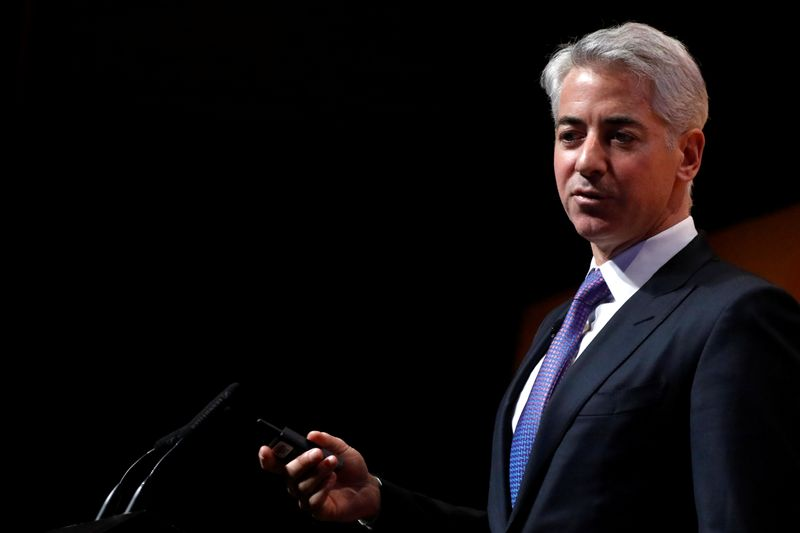 © Reuters. William 'Bill' Ackman, CEO and Portfolio Manager of Pershing Square Capital Management, speaks during the Sohn Investment Conference in New York City