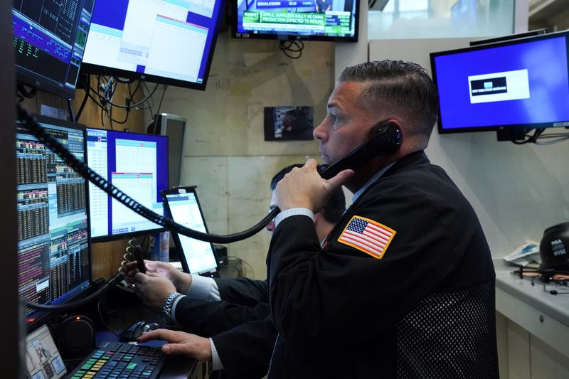 S&P 500, Dow ease from record highs after three-day rally