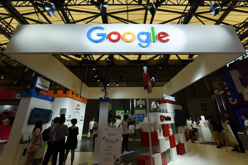 © Reuters. Google booth is seen during the ChinaJoy in Shanghai