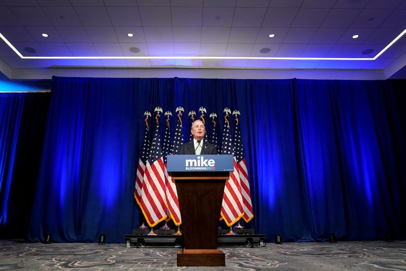© Reuters. FILE PHOTO: Democratic U.S. presidential candidate Michael Bloomberg addresses a news conference after launching his presidential bid in Norfolk, Virginia