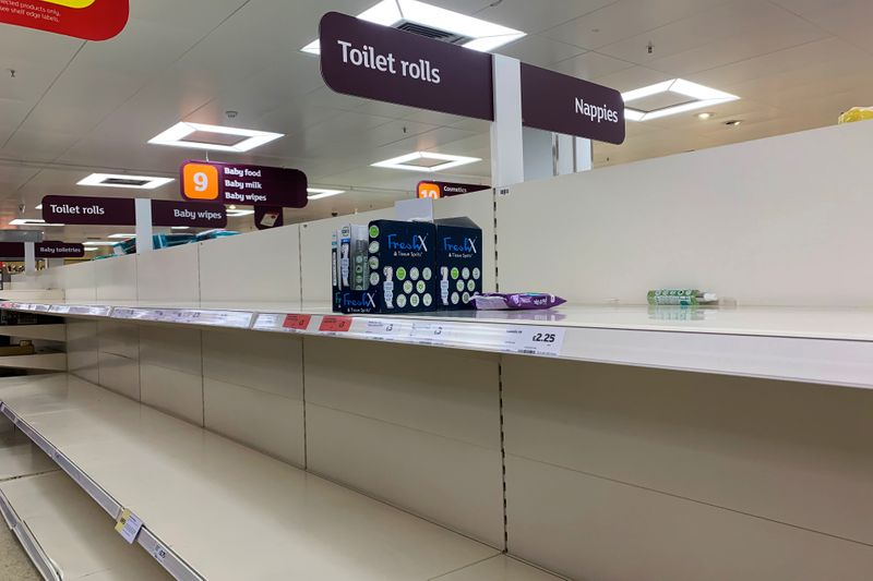 British supermarkets' plea to shoppers: stop panic buying