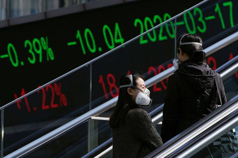 Asian stocks fall in volatile session after historic Wall St. plunge thumbnail