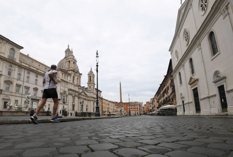 © Reuters. FILE PHOTO: Spread of the coronavirus disease (COVID-19) in Rome