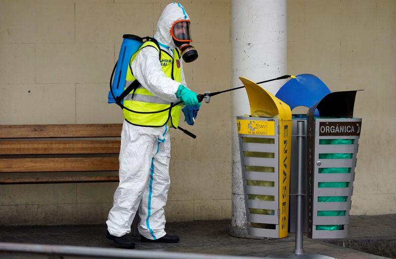 © Reuters. inFILE PHOTO: Spread of coronavirus disease (COVID-19) in Madrid