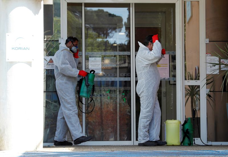 © Reuters. Coronavirus disease (COVID-19) outbreak in Mougins