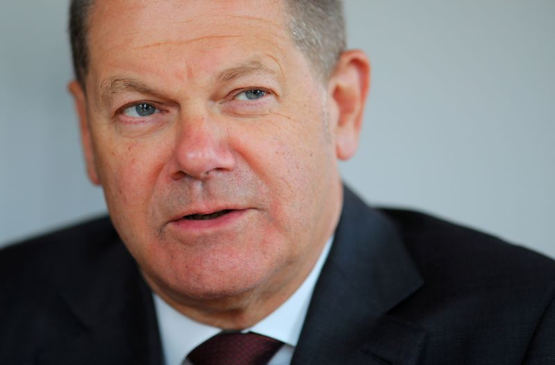 © Reuters. Reuters interview with German Finance Minister Olaf Scholz in Berlin