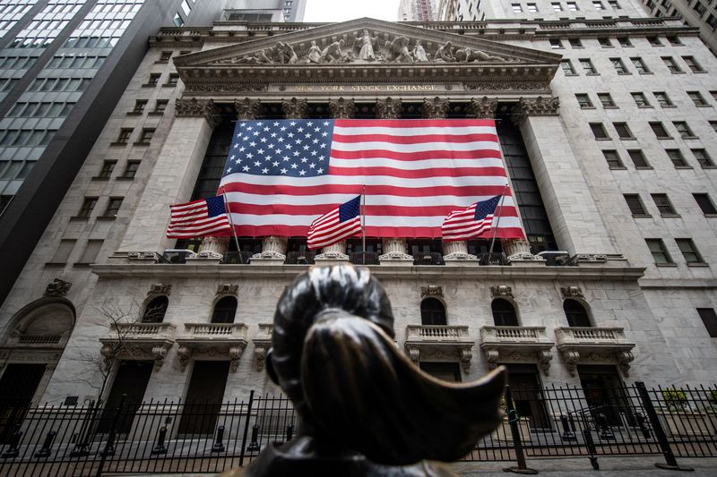 Wall St. caps best month in decades with broad sell-off