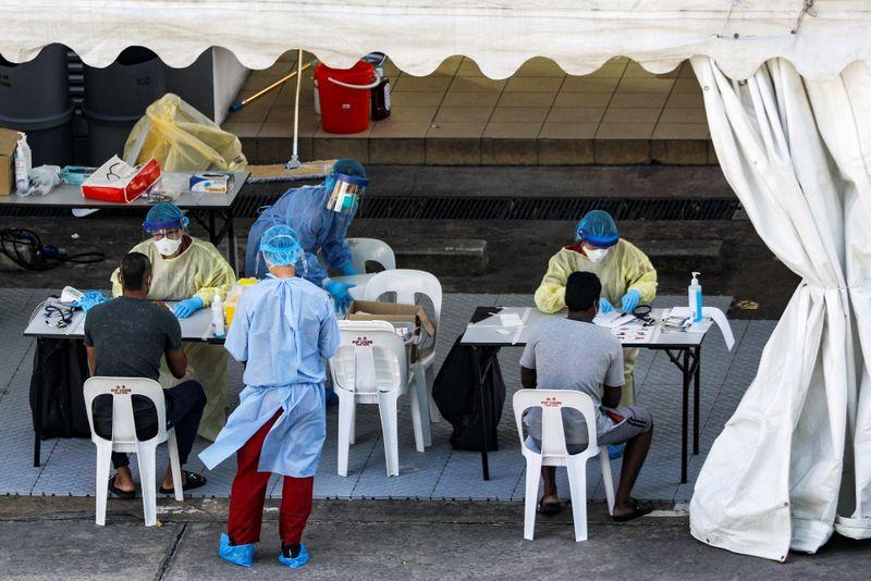 © Reuters. Coronavirus disease (COVID-19) outbreak in Singapore