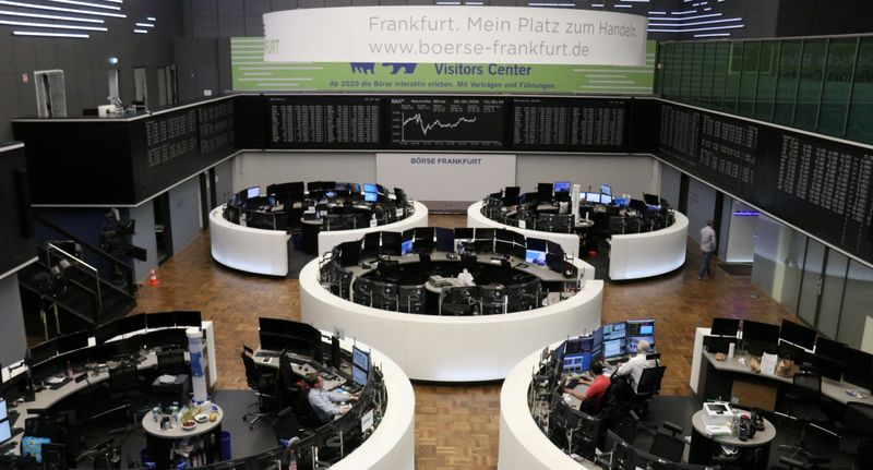 European shares gain on oil boost as economies reopen