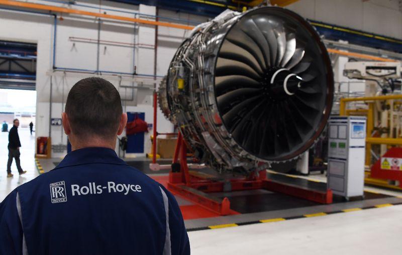 © Reuters. Fabricação de turbina de aeronave nas instalações da Rolls-Royce em Derby, Inglaterra