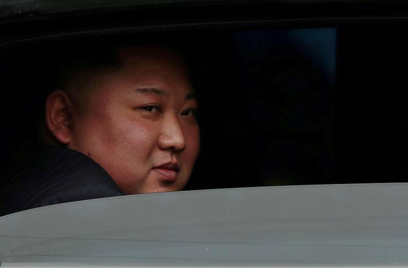 © Reuters. Líder da Coreia do Norte, Kim Jong Un, em estação ferroviária no Vietnã