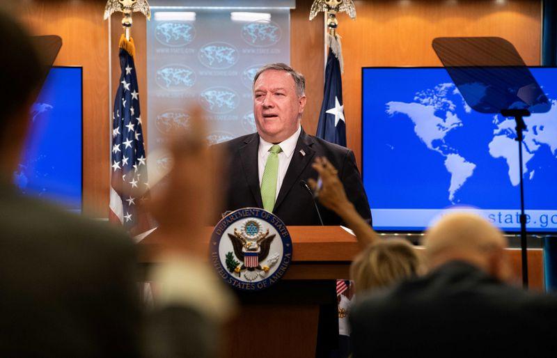 © Reuters. Secretário de Estado dos EUA, Mike Pompeo