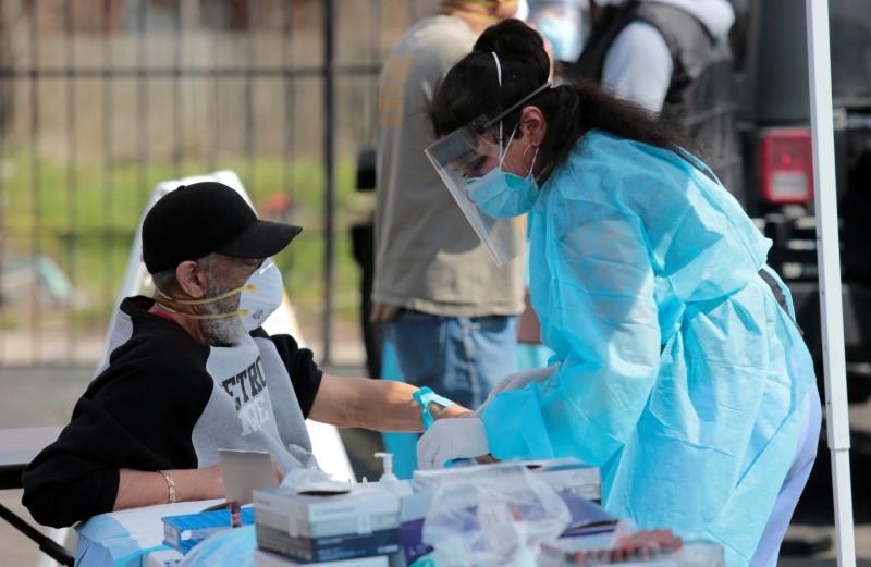 © Reuters. FILE PHOTO: The coronavirus disease (COVID-19) outbreak in Detroit