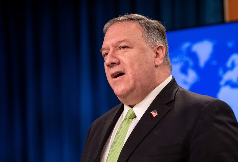Exclusive: Pompeo to urge stock exchanges globally to tighten rules for Chinese companies