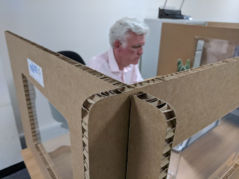 Think inside the cardboard box for your post-lockdown work station