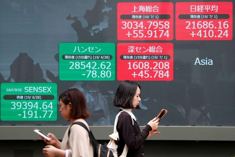 Índices acionários da China fecham em alta por expectativa de controle de surto e reuniões com os EUA