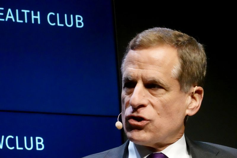 © Reuters. Dallas Federal Reserve Bank President Robert Kaplan speaks at the Commonwealth Club in San Francisco