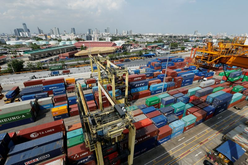 © Reuters. A view of the port of Bangkok in Thailand