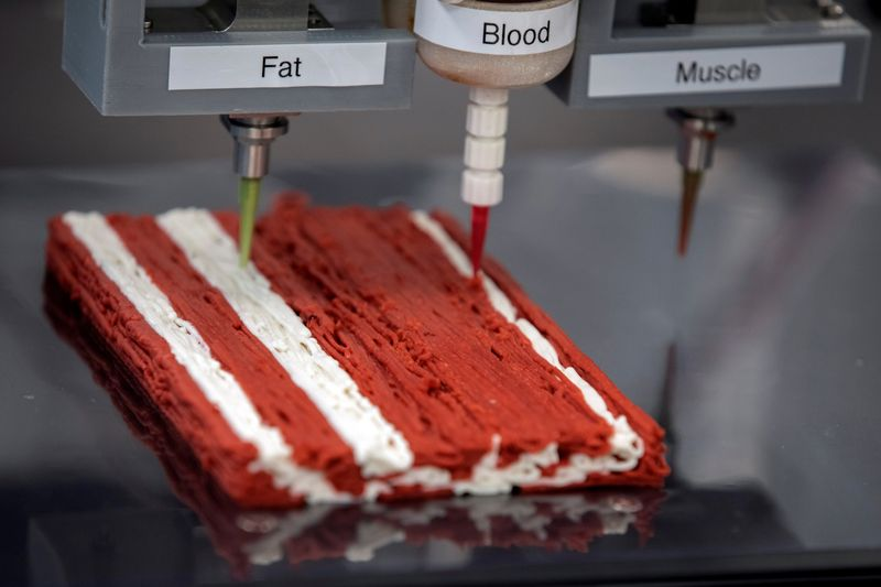 © Reuters. Impressora 3D da empresa israelense Redefine Meat