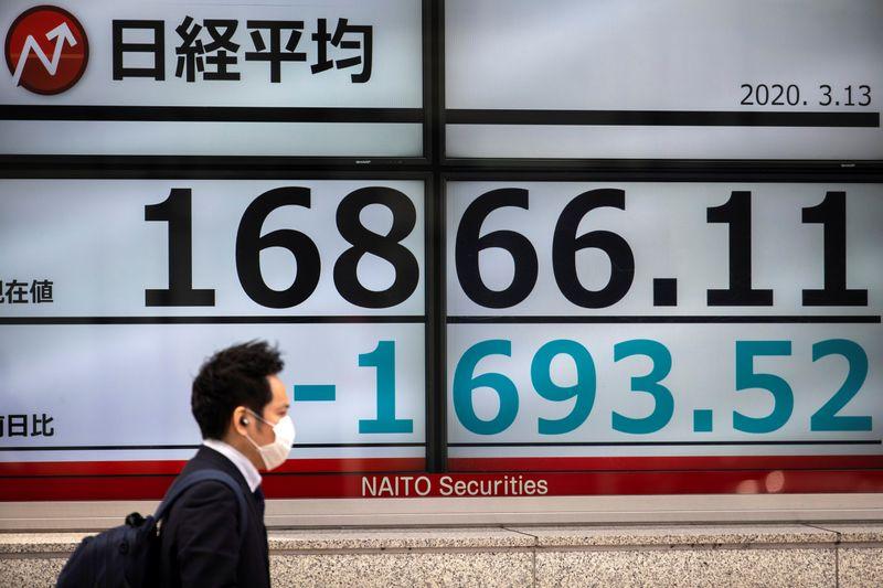 © Reuters. نيكي يرتفع 0.23% في بداية التعامل بطوكيو