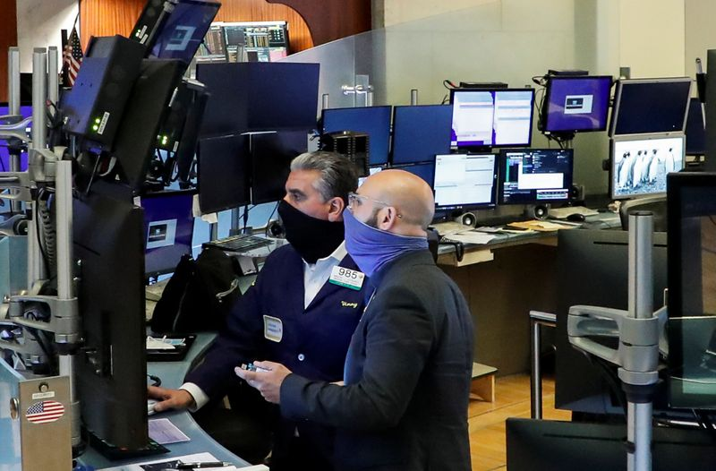 Wall Street gains on surprise services data, China-led...