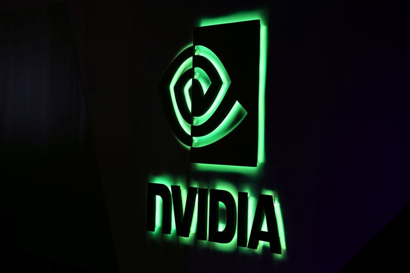 © Reuters. NVIDIA logo shown at SIGGRAPH 2017