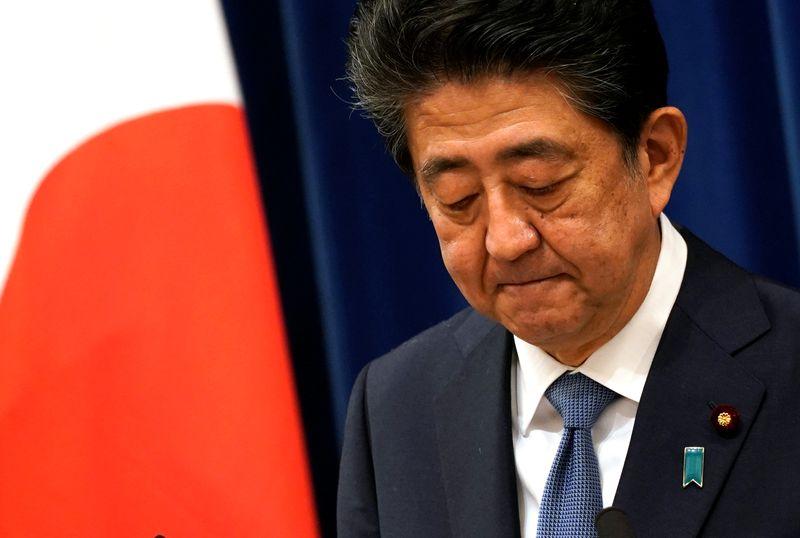 © Reuters. JAPON: LE PREMIER MINISTRE SHINZO ABE ANNONCE SA DÉMISSION POUR RAISON DE SANTÉ