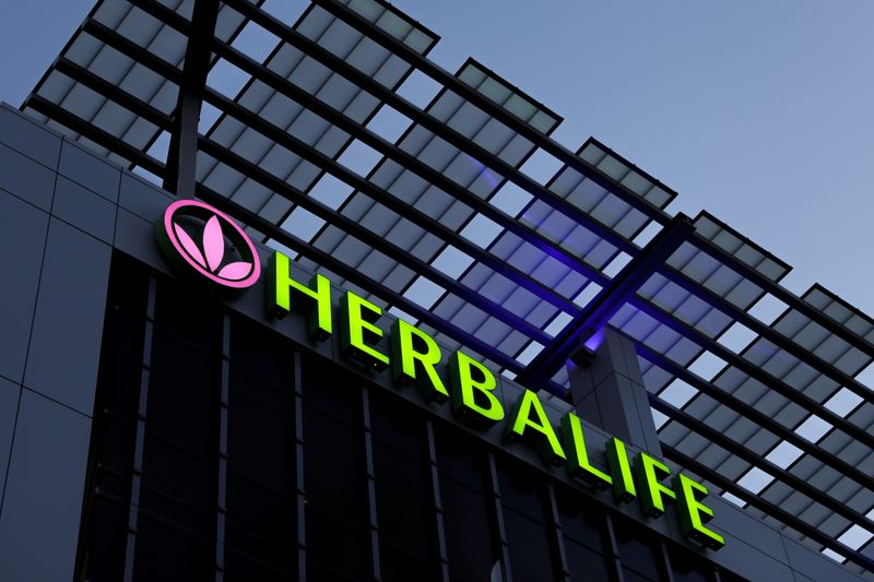 � Reuters. A Herbalife sign is shown on a building in Los Angeles, California