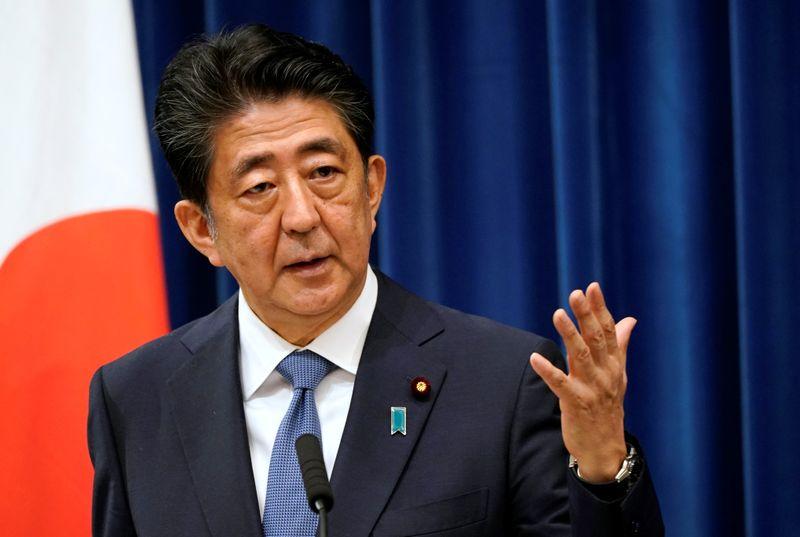 © Reuters. Japanese Prime Minister Shinzo Abe to resign