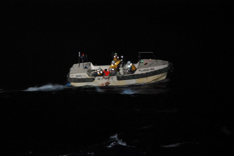 Cattle ship capsized in storm off Japan, rescued crewman says By Reuters