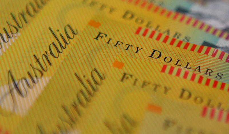� Reuters. FILE PHOTO: Illustration photo of Australian dollars