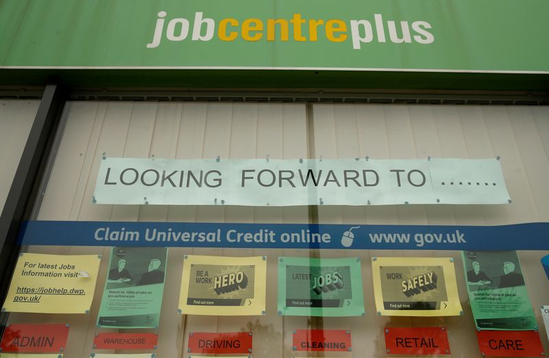 � Reuters. Job adverts are seen in the window of a job centre following the outbreak of the coronavirus disease (COVID-19), in Manchester
